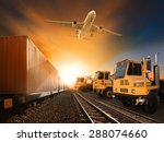 industry container trains... | Shutterstock . vector #288074660