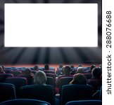 viewers watch motion picture at ... | Shutterstock . vector #288076688