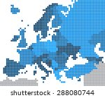 round edge blue square europe... | Shutterstock .eps vector #288080744