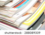 stack of magazines | Shutterstock . vector #288089339