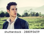 handsome young man at... | Shutterstock . vector #288093659