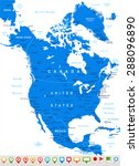 north america   map and... | Shutterstock .eps vector #288096890