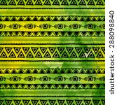 ethnic patterns painted by hand.... | Shutterstock .eps vector #288098840