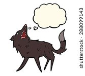 cartoon snapping wolf with... | Shutterstock . vector #288099143