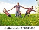 happy family walking together  | Shutterstock . vector #288100808