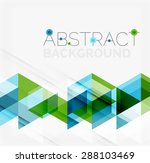 abstract geometric background.... | Shutterstock . vector #288103469