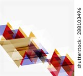 abstract geometric background.... | Shutterstock . vector #288103496