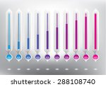 progress indicator percentage... | Shutterstock .eps vector #288108740