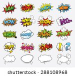 comic sound effects | Shutterstock .eps vector #288108968