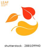 autumn leaves. isolated leaves... | Shutterstock .eps vector #288109940