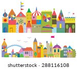 houses funny banner   fairytale ... | Shutterstock .eps vector #288116108