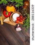 bell peppers  basil  garlic ... | Shutterstock . vector #288116339
