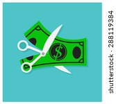vector scissors money lack of...
