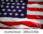 american flag in water | Shutterstock . vector #288121406