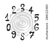 numerals set. each number is... | Shutterstock .eps vector #288122483