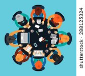 startup brainstorming meeting.... | Shutterstock .eps vector #288125324