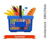 shopping basket full of healthy ... | Shutterstock .eps vector #288125666