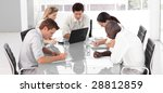 young multi culutre business... | Shutterstock . vector #28812859
