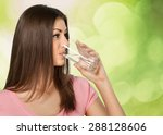 water  drinking  women. | Shutterstock . vector #288128606
