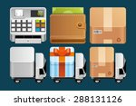 set of shopping icons | Shutterstock .eps vector #288131126