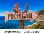 Michigan Wooden Sign With...
