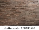 It Is Dark  Brown Brick Wall...