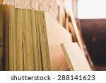 Stack Of Plywood In Workshop....