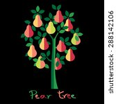 pear tree. colorful pears... | Shutterstock .eps vector #288142106