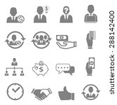 vector icon business  finance... | Shutterstock .eps vector #288142400