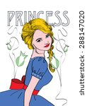 the princess | Shutterstock .eps vector #288147020