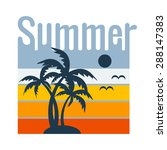 summer typography  t shirt... | Shutterstock .eps vector #288147383