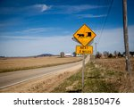 amish warning sign in farm... | Shutterstock . vector #288150476