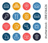 real estate icon set | Shutterstock .eps vector #288156626
