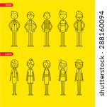 casual set characters for use... | Shutterstock .eps vector #288160094
