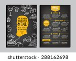 restaurant cafe menu  template... | Shutterstock .eps vector #288162698