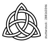 celtic trinity knot vector ... | Shutterstock .eps vector #288163346