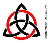 celtic trinity knot vector ... | Shutterstock .eps vector #288163394