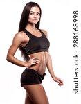 beautiful fitness woman | Shutterstock . vector #288168998