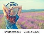 woman in lavender field | Shutterstock . vector #288169328