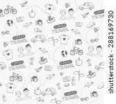 hipster travel vector hand... | Shutterstock .eps vector #288169730