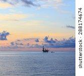 offshore jack up drilling rig...   Shutterstock . vector #288174674