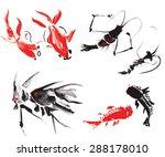 underwater residents painted... | Shutterstock .eps vector #288178010