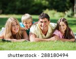 smiling  laughter  son. | Shutterstock . vector #288180494