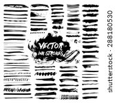 big collection of black ink... | Shutterstock .eps vector #288180530