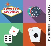 las vegas casino vector with... | Shutterstock .eps vector #288181550