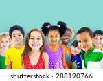 diversity children friendship... | Shutterstock . vector #288190766