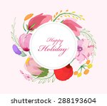 watercolor flowers background... | Shutterstock .eps vector #288193604