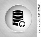 data center design  vector... | Shutterstock .eps vector #288197246