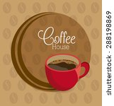 coffee time design over brown... | Shutterstock .eps vector #288198869