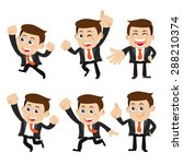 set of businessman characters... | Shutterstock .eps vector #288210374